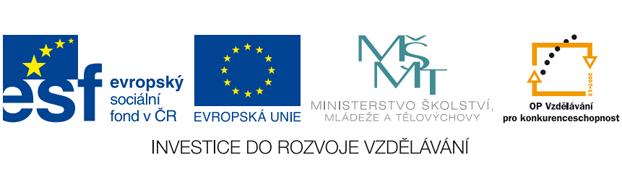 Loga ESF, EU, MŠMT a OP Vzdělávání pro konkurenceschopnost