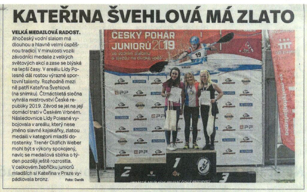 Článek z Českobudějovického deníku