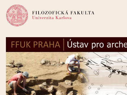 Web Ústavu pro archeologii při FF UK
