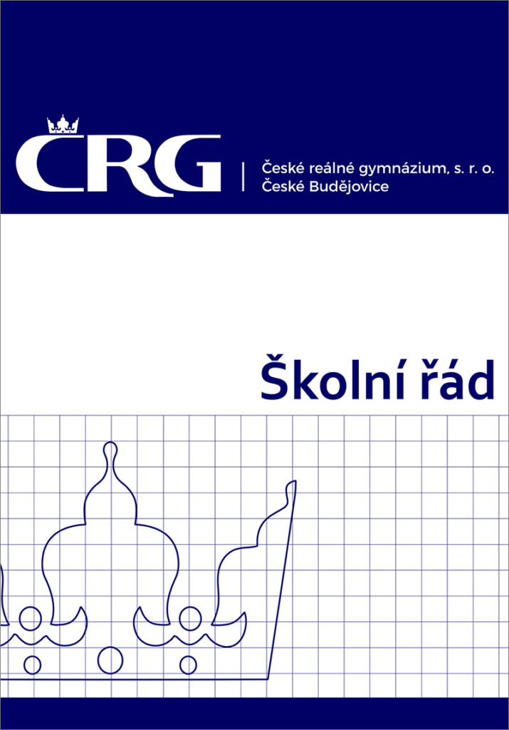 Úvodní stránka školního řádu ČRG s. r. o.