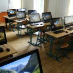 Učebna informatiky s dotykovými panely
