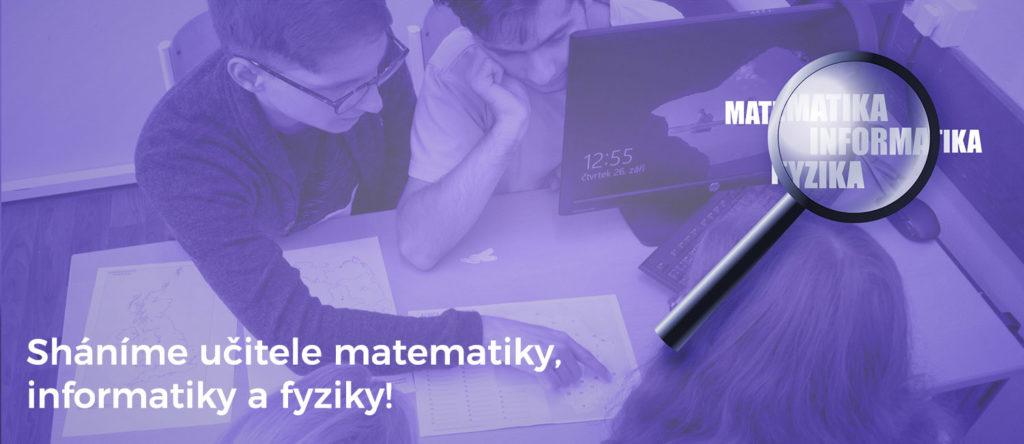 ČRG hledá učitele Ma, IT, Fy