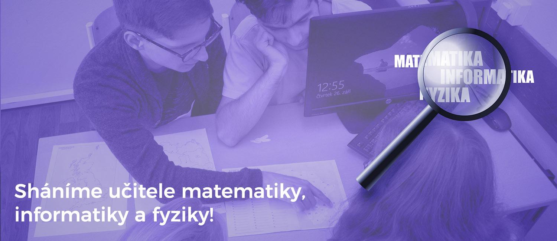 Výuka od 10. 5. 2021<br/>ČRG s. r. o. shání učitele Ma, Fy, IT