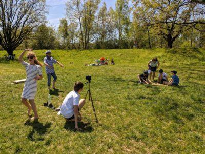 Natáčení krátkého filmu pro projektový den